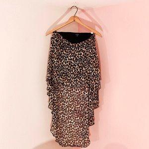 Leopard print high low skirt!